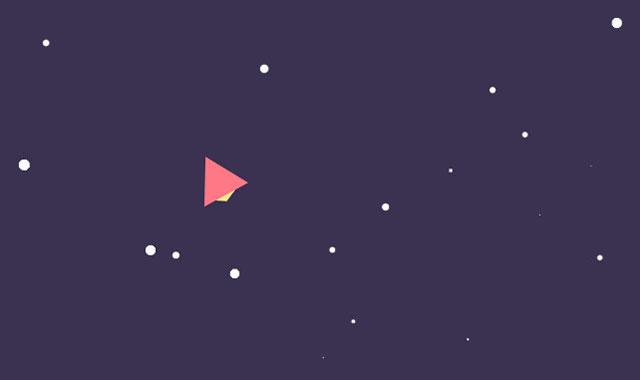 html5 canvas纸飞机跟随鼠标飞行动画-canvas